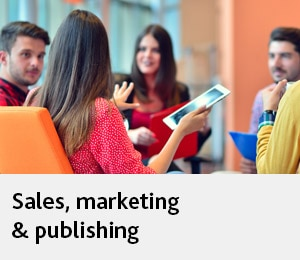 Sales, marketing & publishing
