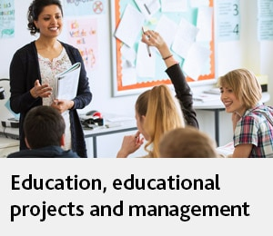 Education, educational projects and contract management