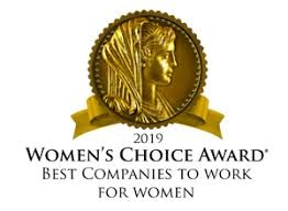 Image with text. A badge which reads Women's Choice 2019 Award.