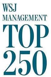 Image with text which reads WSJ Management top 250 Award