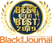 "Image with text. It's a badge that reads ""Best of the Best 2019"". Awarded by Black EOE Journal."