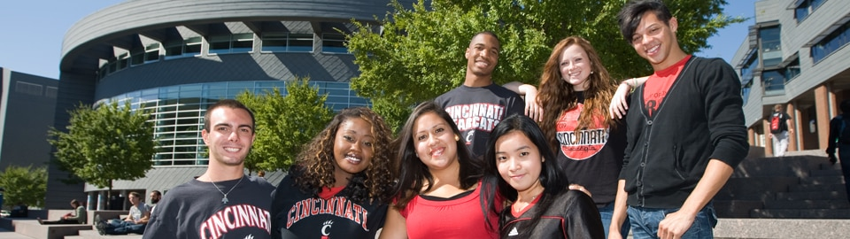 Diverse group of UC students