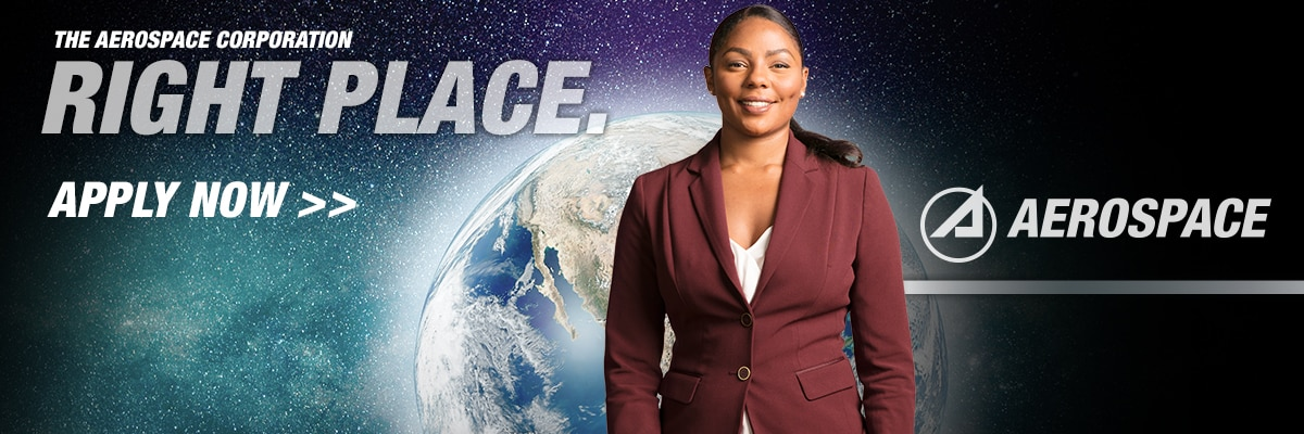 The Aerospace Corporation Right Place Banner