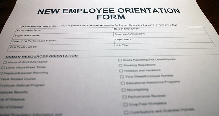 New Employee Orientation Form