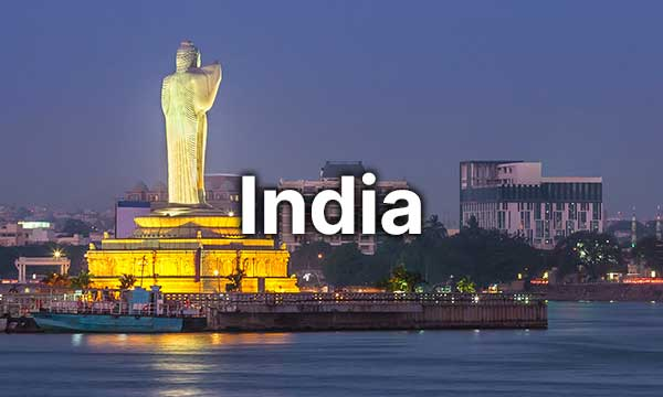 Scenic landscape of India