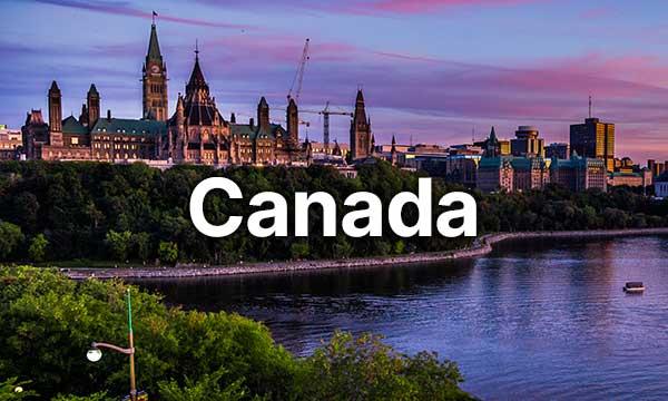 Scenic landscape of Canada