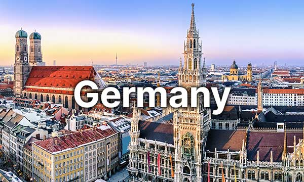 Scenic landscape of Germany