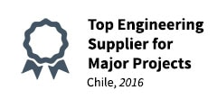 2016 Top Engineering Supplier for Major Projects - Chile
