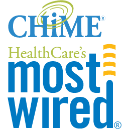 Chime HealthCare's Most Wired award logo