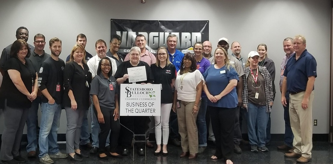 Congratulations to our Statesboro, GA team on being awarded Business of the Quarter from the Statesboro-Bulloch Chamber of Commerce. We're proud to manufacture in the U.S. and are proud of our employees in Statesboro!