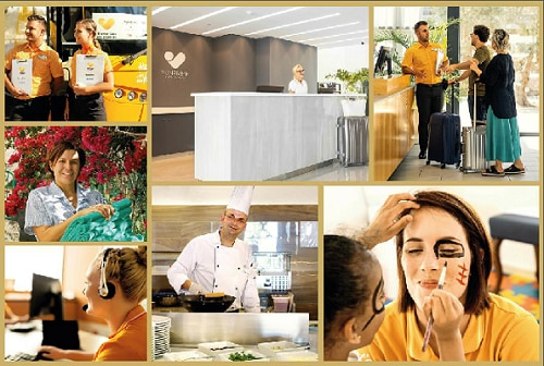 Thomas Cook In Destination & Hotels staff in working locations