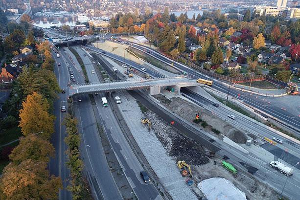 SR 520 Montlake to Lake Washington Project, Washington.