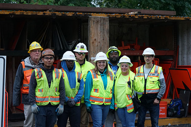 Team of US Graham employees on site.